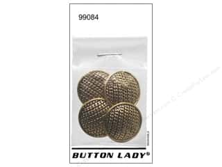 JHB Button Lady Buttons 7/8 in. Antique Gold 4 pc.