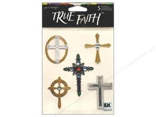 Jolee's Boutique Stickers True Faith Crosses