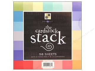 Cardstock  8x8: DieCuts Cardstock Stack 8x8 Match Makers Bright
