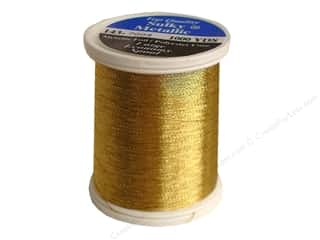 serger thread: Sulky Metallic Thread 1000 yd. Brass