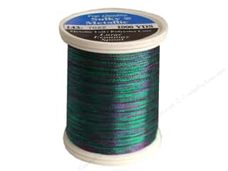 serger thread: Sulky Metallic Thread 1000 yd. Jade/Purple