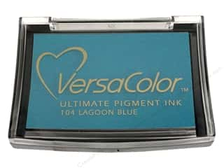 Tsukineko New: Tsukineko VersaColor Large Pigment Ink Stamp Pad Lagoon Blue