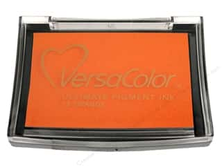Tsukineko New: Tsukineko VersaColor Large Pigment Ink Stamp Pad Orange