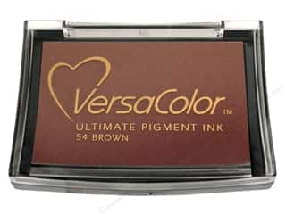 Stamping Ink Pads Brown: Tsukineko VersaColor Large Pigment Ink Stamp Pad Brown