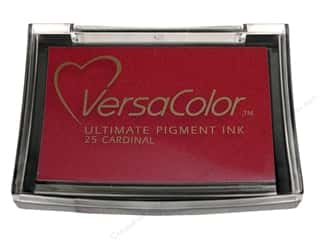Tsukineko New: Tsukineko VersaColor Large Pigment Ink Stamp Pad Large Cardinal