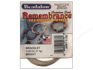 beadalon steel wire: Beadalon Memory Wire Bracelet Bright .25 oz.