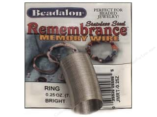 silver jewelry wire: Beadalon Remembrance Memory Wire Ring .25 oz. Bright