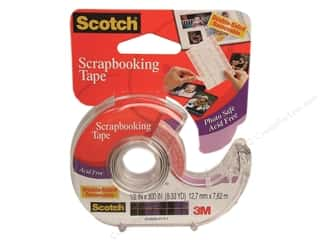 "Glues, Adhesives & Tapes Scotch Tape: Scotch Tape Scrapbooking Tape Double Sided Removable 1/2""x 300"""