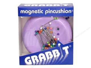 ballpoint tip pins: Blue Feather Grabbit Magnetic PincushionLavender