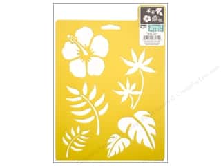 Stencils $6 - $7: Delta Stencil Mania 7 x 10 in. Tropical Plants