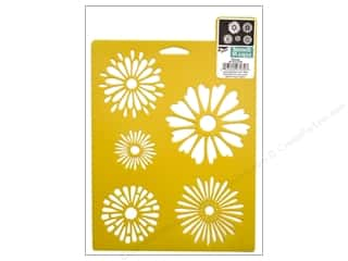 Stenciling Flowers: Delta Stencil Mania 7 x 10 in. Daisies