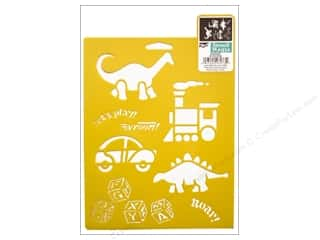 Children inches: Delta Stencil Mania 7 x 10 in. Kid Stuff