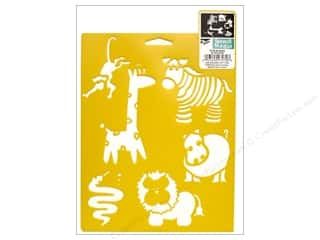 Paper Accents Animals: Delta Stencil Mania 7 x 10 in. Wild Animals