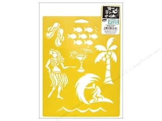 Summer Camp $2 - $4: Delta Stencil Mania 7 x 10 in. Tropical Vacation