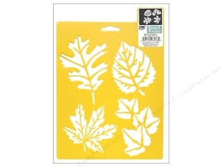 Stenciling Fall / Thanksgiving: Delta Stencil Mania 7 x 10 in. More Leaves