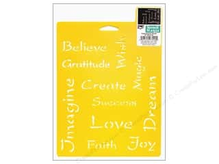 Stenciling $4 - $5: Delta Stencil Mania 7 x 10 in. Inspirational Words