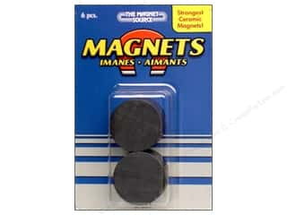 "Craft & Hobbies Basic Components: The Magnet Source Magnet Ceramic Disc 1"" 6 pc"