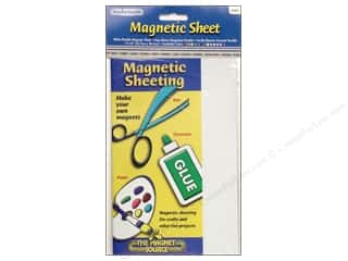 "The Magnet Source Magnet Sheet 5""x 8"" White"