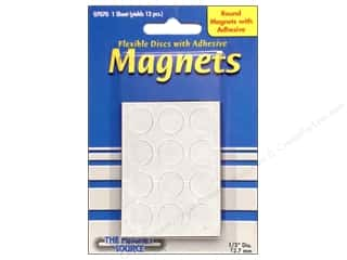 "Basic Components ABC & 123: The Magnet Source Magnet Disc with Adhesive 1/2""x 1/16"""