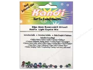 Heat Tools $24 - $28: Kandi Swarovski Crystal 4mm Assorted Light Mix 24 pc