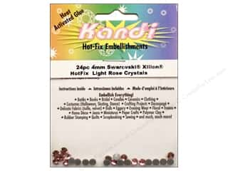 Heat Tools $24 - $28: Kandi Swarovski Crystal 4mm Light Rose 24 pc