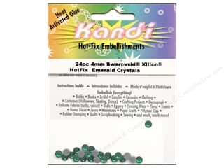 Kandi Corp Kandi Applicator: Kandi Swarovski Crystal 4mm Emerald 24 pc