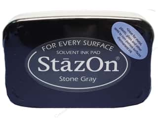 Rubber Stamping Height: Tsukineko StazOn Large Solvent Ink Stamp Pad Stone Grey