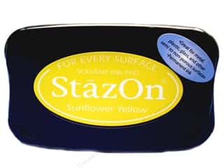 Tsukineko Tsukineko StazOn Stamp Pad: Tsukineko StazOn Large Solvent Ink Stamp Pad Sunflower Yellow