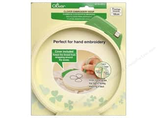 Stands Yarn & Needlework: Clover Embroidery Stitching Hoop 7""