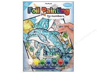 Beach & Nautical Crafting Kits: Royal Paint By Number Foil Dolphins