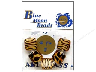 Blue Moon Beads Art Glass Animal Print Sq Orange