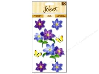 EK Jolee's Stickers Vellum Purple Flowers