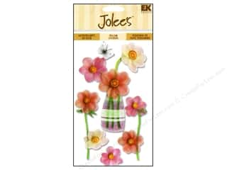 Flowers Stickers: Jolee's Vellum Stickers Pink Flowers