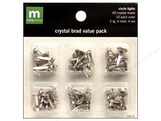 color brads: Making Memories Brads VP Crystal Circle Lights