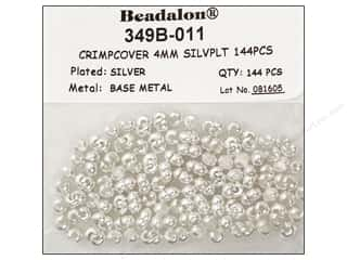 Halloween Beading & Jewelry Making Supplies: Beadalon Crimp Covers 4 mm Silver 144 pc.