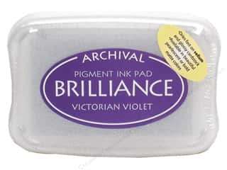 Stamping Ink Pads Craft & Hobbies: Tsukineko Brilliance Large Craft Stamp Pad Victorian Violet