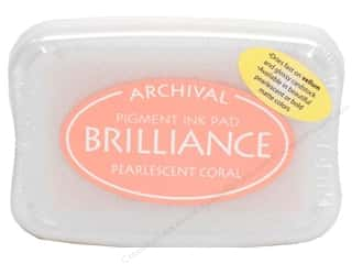 Sculpey $2 - $4: Tsukineko Brilliance Large Craft Stamp Pad Pearl Coral