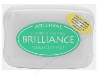 Sculpey $2 - $4: Tsukineko Brilliance Large Craft Stamp Pad Pearl Jade