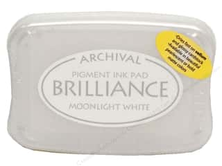Sculpey $2 - $4: Tsukineko Brilliance Large Craft Stamp Pad Moonlight White