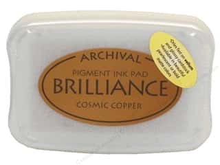 Stamping Ink Pads 2 1/2 in: Tsukineko Brilliance Large Craft Stamp Pad Cosmic Copper
