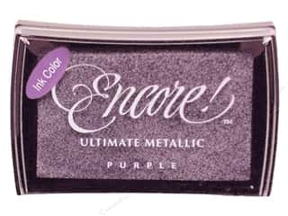 Rubber Stamping Height: Tsukineko Encore! Ultimate Metallic Stamp Pad Purple