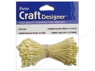 Darice Stamen Pearl Yellow 144 pc (3 packages)