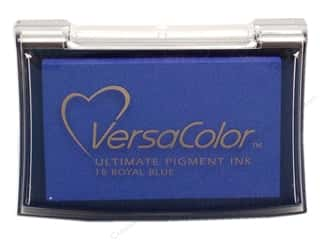 Stamping Ink Pads Blue: Tsukineko VersaColor Large Pigment Ink Stamp Pad Royal Blue