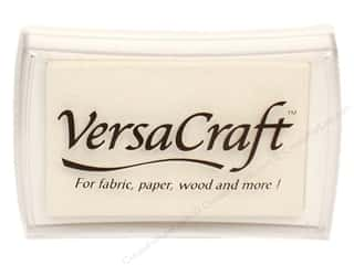 Stamping Ink Pads Fabric Painting & Dying: Tsukineko VersaCraft Large Craft Ink Stamp Pad White