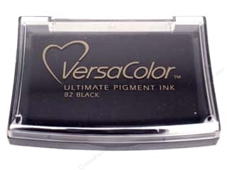 Stamps Black: Tsukineko VersaColor Large Pigment Ink Stamp Pad Black