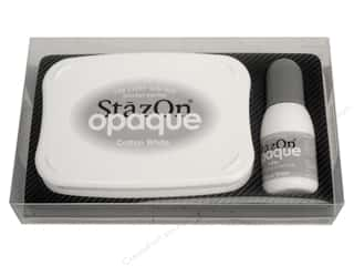 Inks $4 - $5: Tsukineko StazOn Large Solvent Ink Stamp Pad Opaque Cotton White