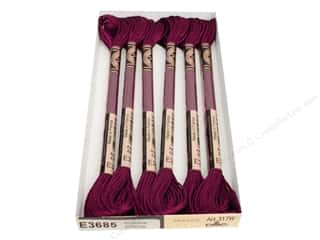 Floss Polyester Floss: DMC Light Effects Embroidery Floss 8.7 yd. #E3685 Antique Effects Rosewood (6 skeins)