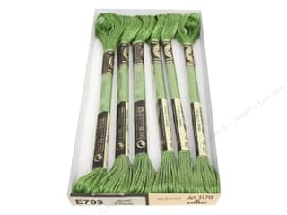 DMC Light Effects Embroidery Floss 8.7 yd. #E703 Jewel Effects Light Green Emerald
