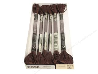 Floss Polyester Floss: DMC Light Effects Embroidery Floss 8.7 yd. #E898 Antique Effects Dark Oak (6 skeins)