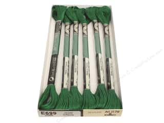 DMC Light Effects Embroidery Floss 8.7 yd. Green Emerald (6 skeins)